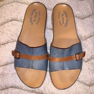 Kork-Ease Leather Comfy Sandals great cond!